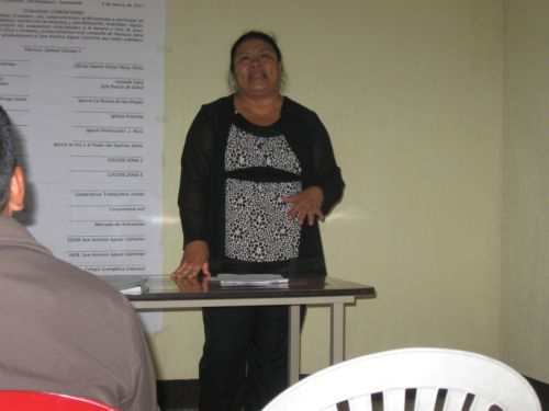 COFOA Guatemalan Leader Laura Morales Tomas Speaks At An International Women's Day Event: March 2012