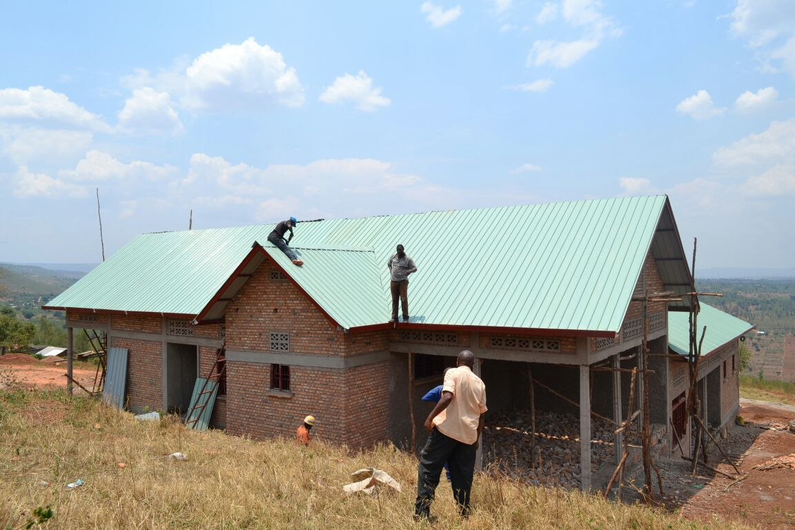 The Roof Is On The Health Clinic In Rusumo