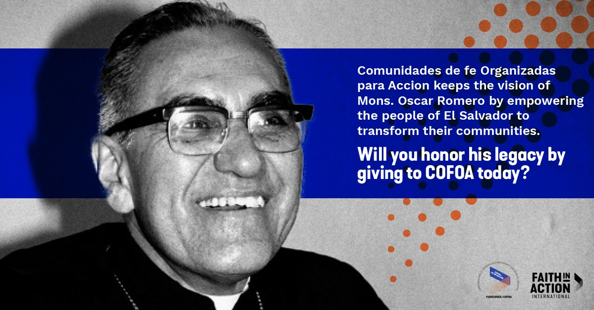 Honor Bishop Romero By Giving To COFOA Today