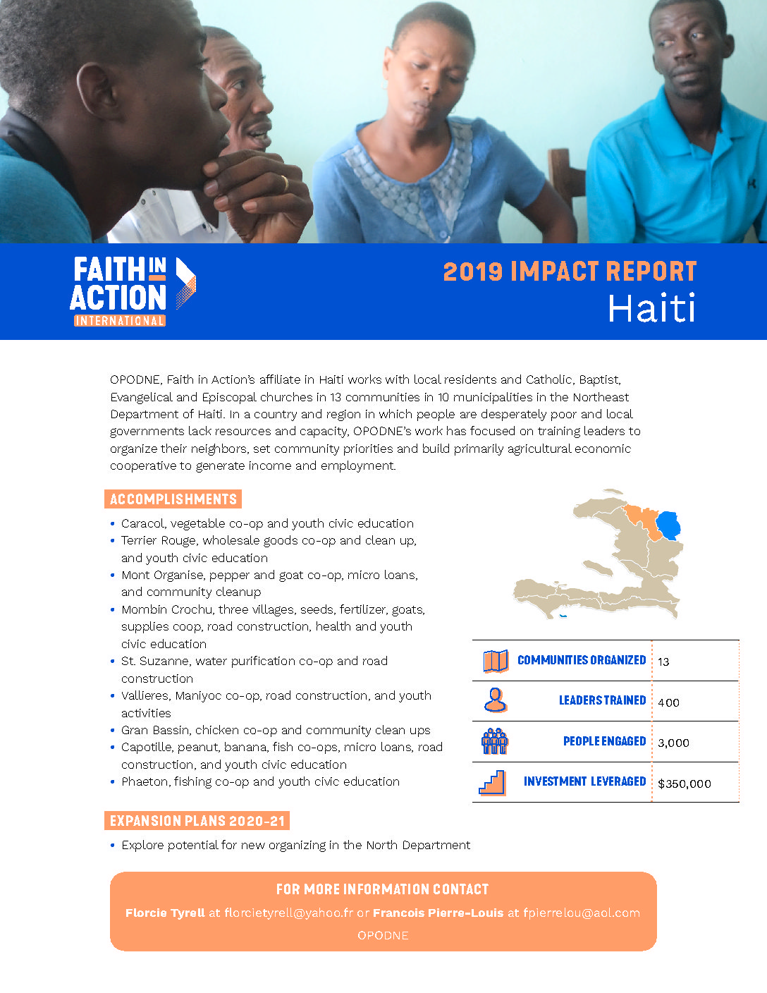 Look At The Impact Faith In Action Organizing Is Having In Haiti